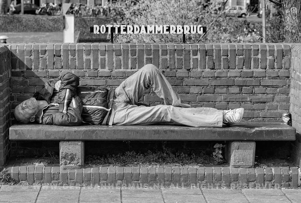 straatfotografie amsterdam dakloze