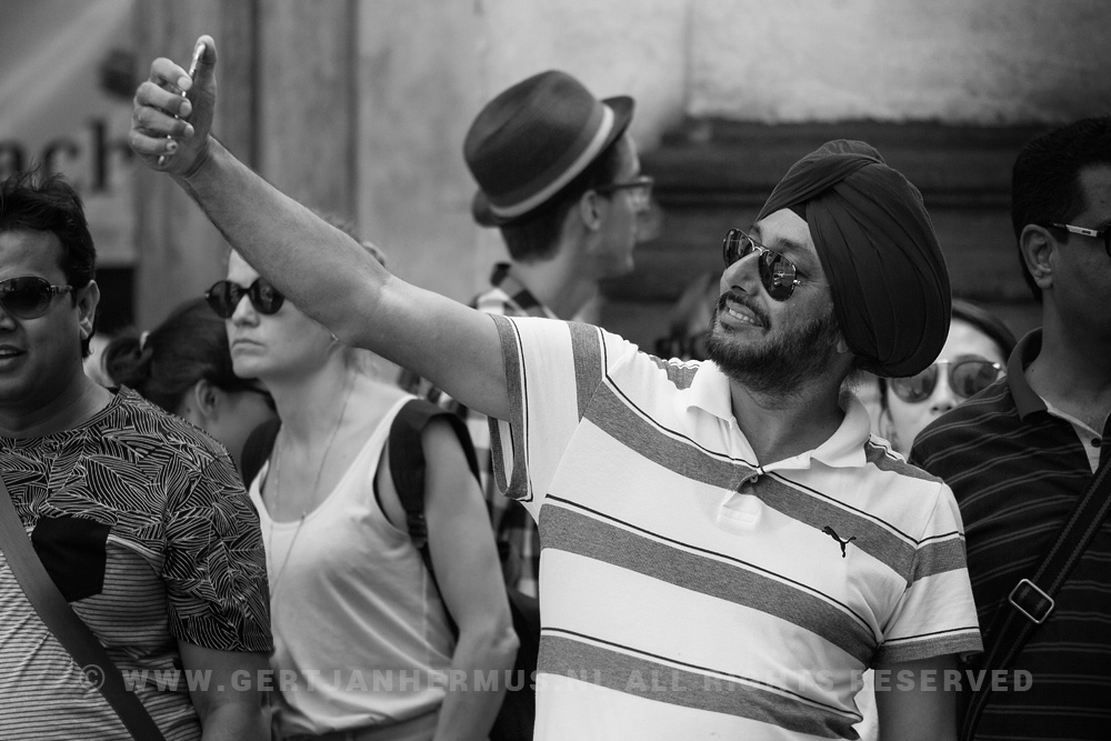 straatfotografie man met tulband