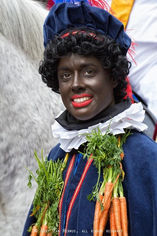 portret Zwarte Piet in Sneek