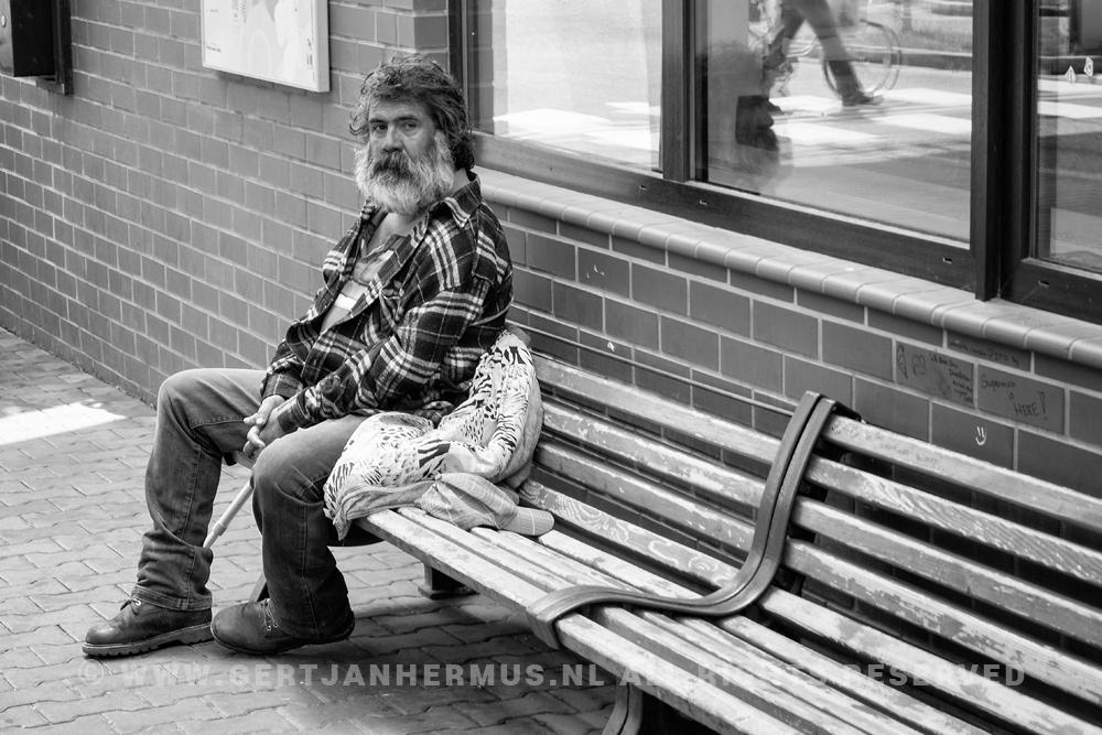 straatfotografie zwerver