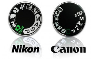Sluitertijd Canon en Nikon