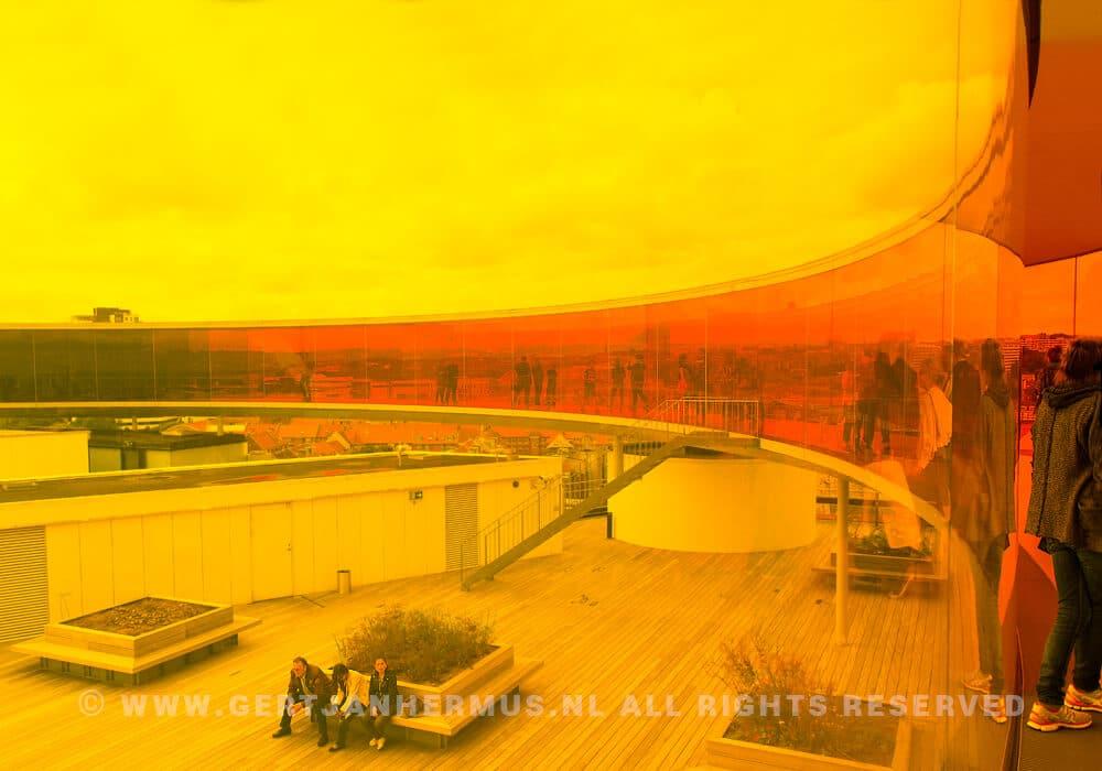 ARoS Aarhus regenboog panoramadek
