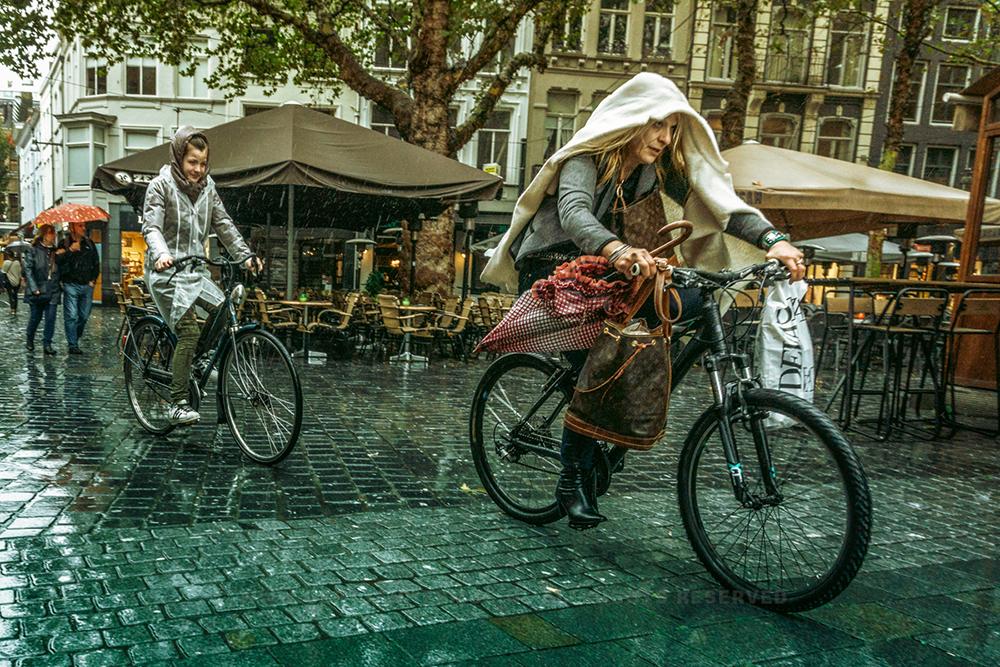 straatfotografie in de regen