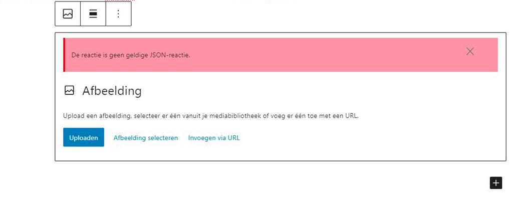 uploaden foto wordpress geen geldige JSON-reactie